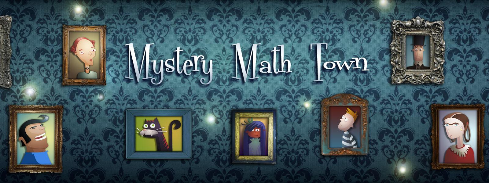Mystery Math Town Banner