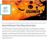 Appy Halloween!! Best Educational Apps from AppyMall